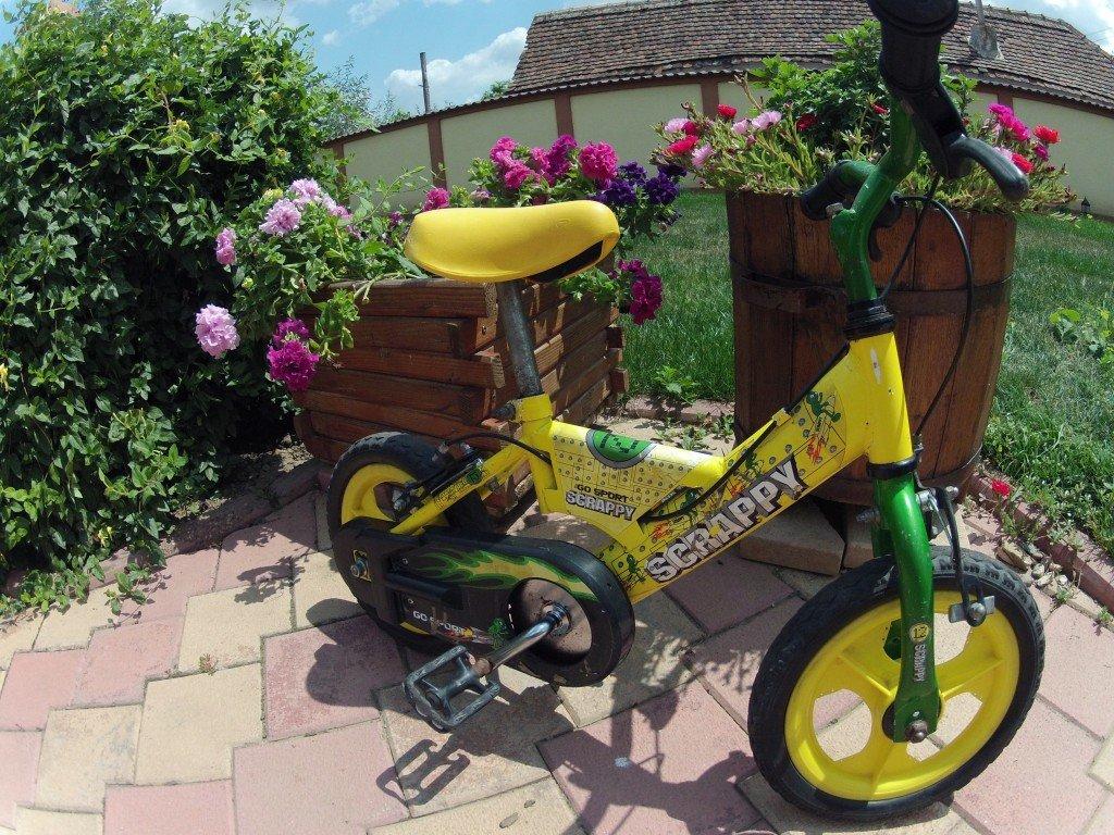 O mini-bicicleta pentru un viitor mare biciclist