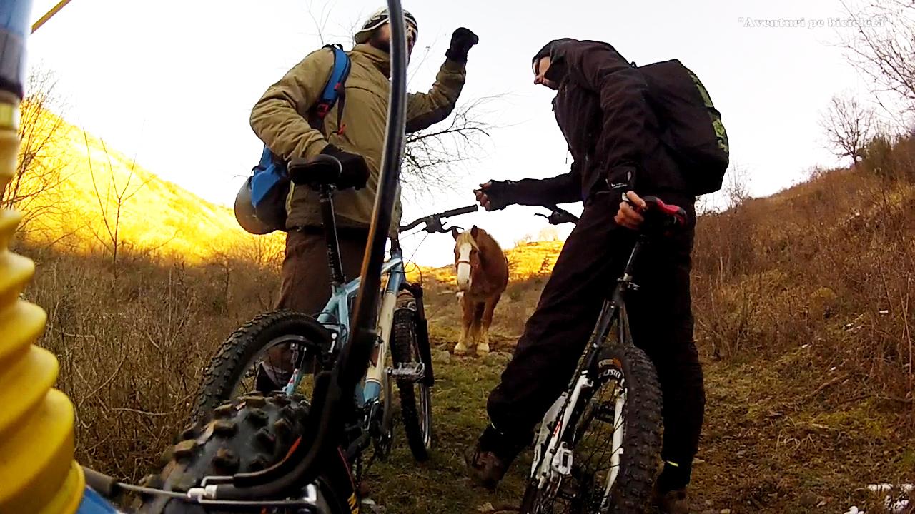 Aventuri pe bicicleta - Excursie cu bicicleta  pe zapada si noroi in Muntii Zarandului, Arad, 2015