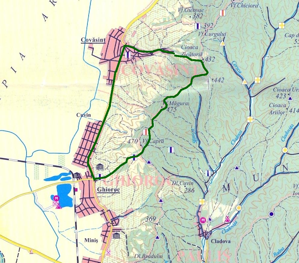 Aventuri pe bicicleta - Zapada pe creasta Zarandului (Ghioroc-Covasant-Ghioroc) pe traseu ghioroc - covasant - ghioroc