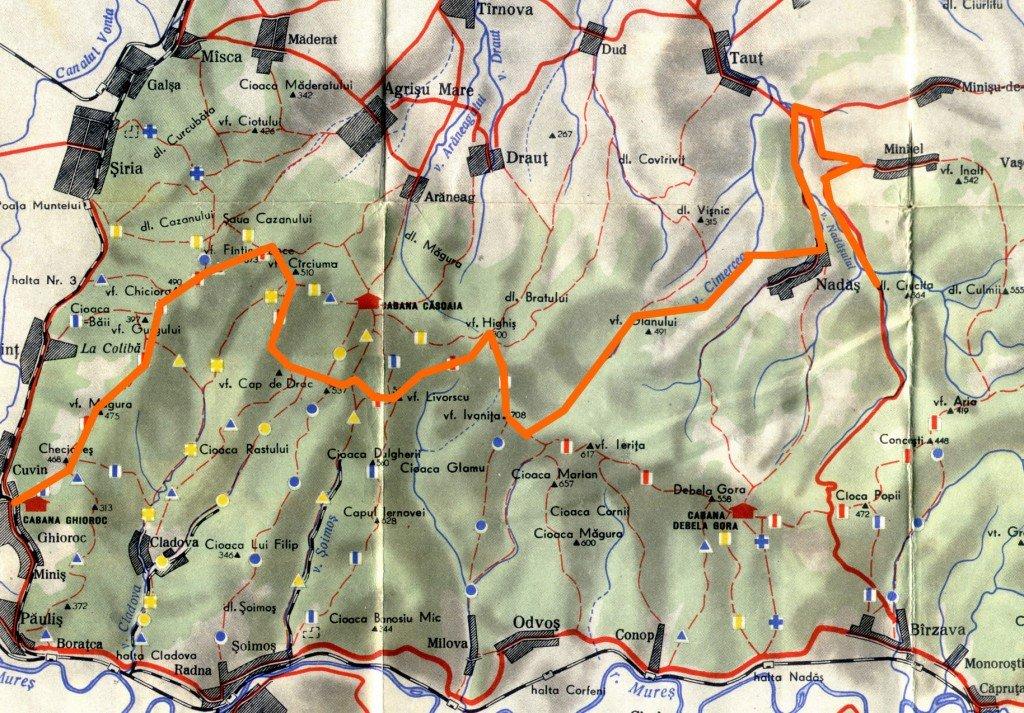 Aventuri pe bicicleta - Harta Highiseala 2012