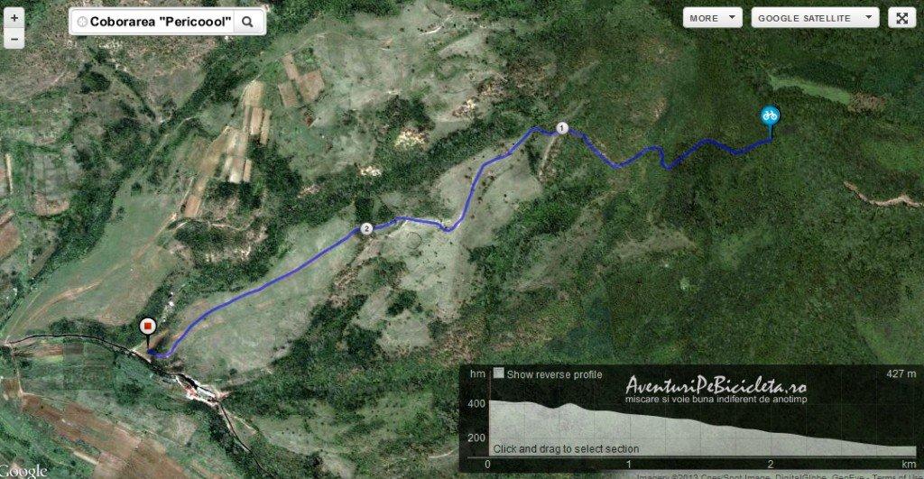harta coborarea pericoool aventuri pe bicicleta prin muntii zarandului