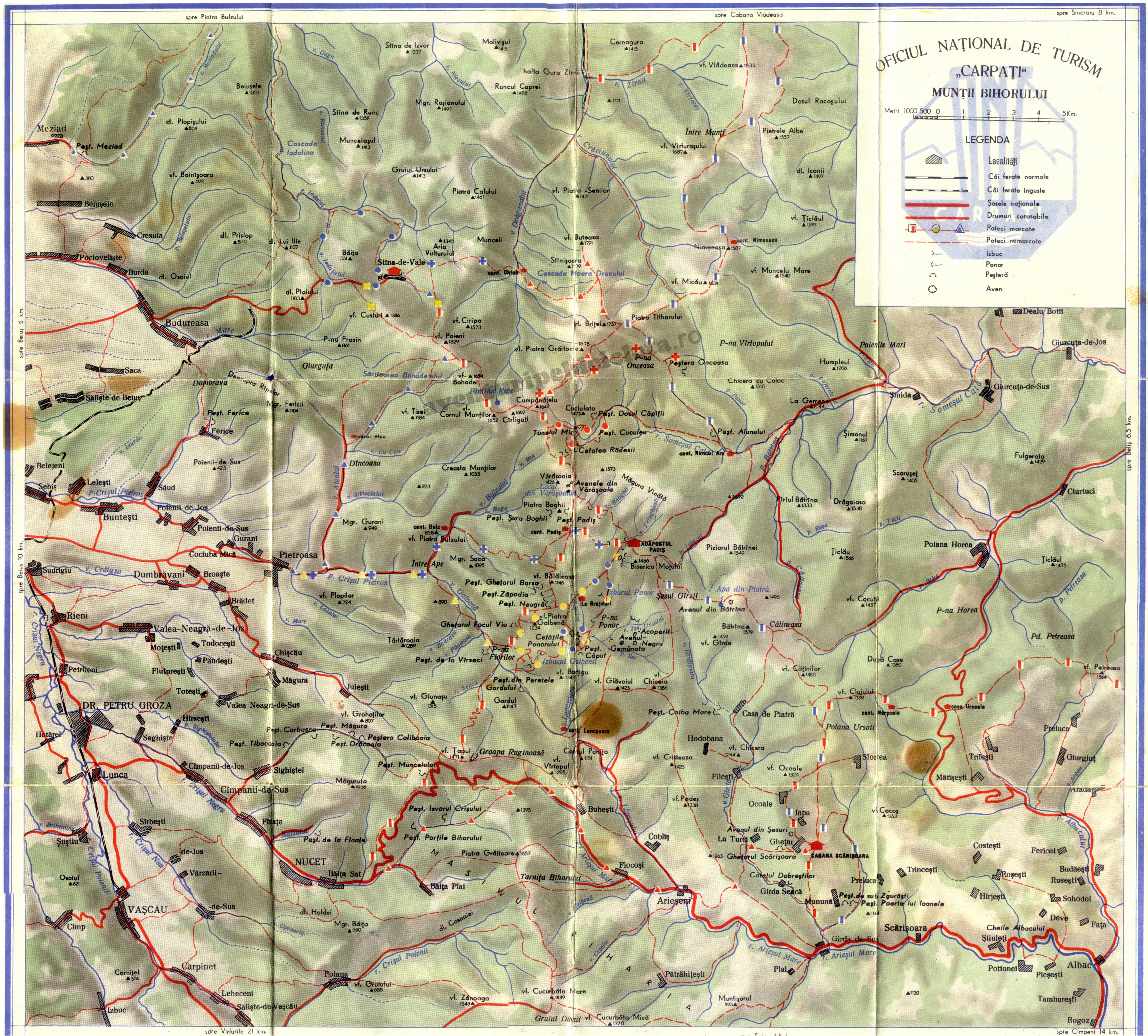 Harta Muntii Bihor