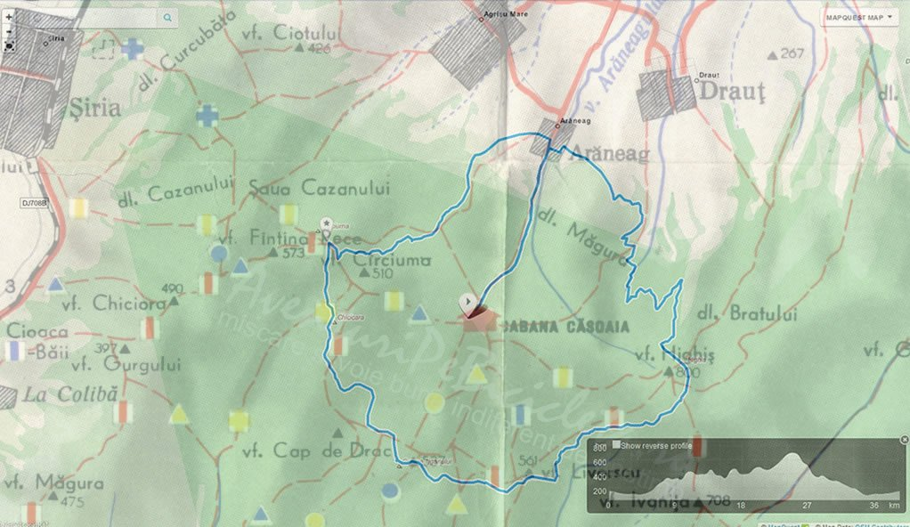Harta traseu Casoaia Bike Race