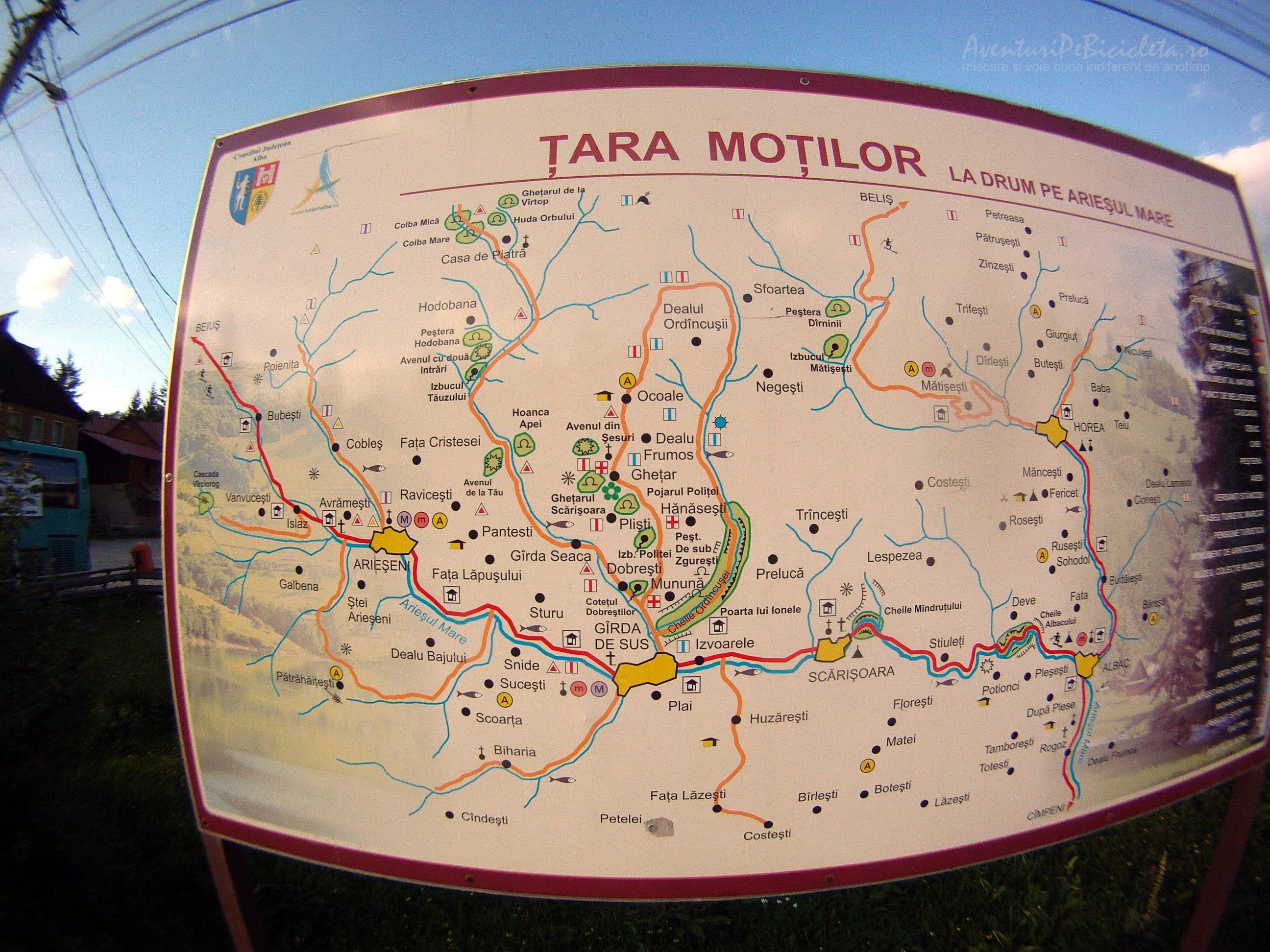 harta in arieseni tara motilor
