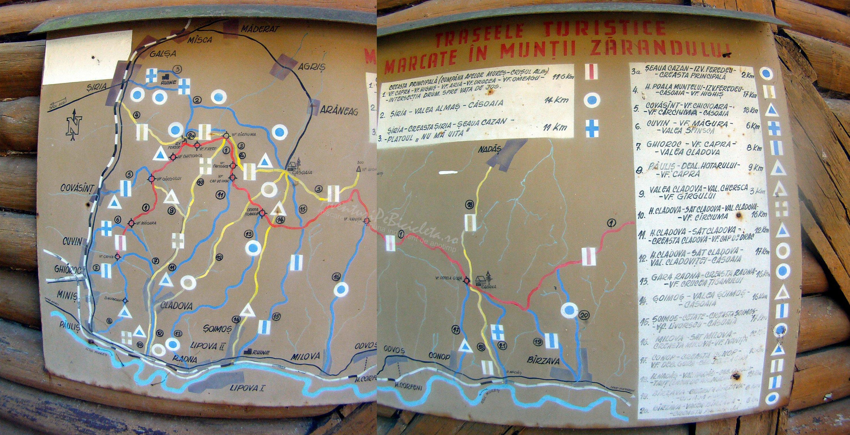 trasee turistice marcate in muntii zarandului