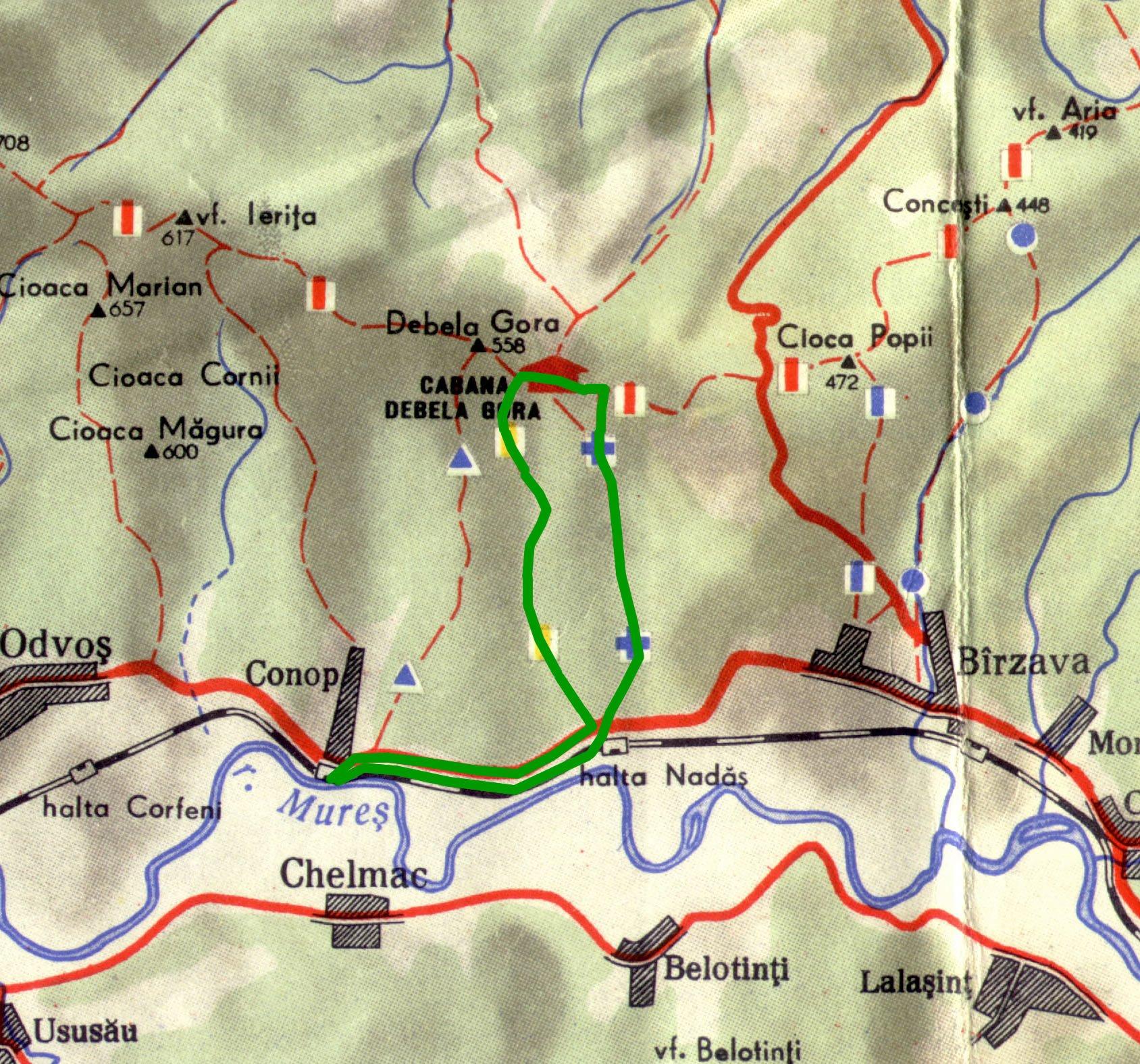 Harta Aventuri pe bicicleta - Biciclist de duminica Conop - Debelagora - Conop