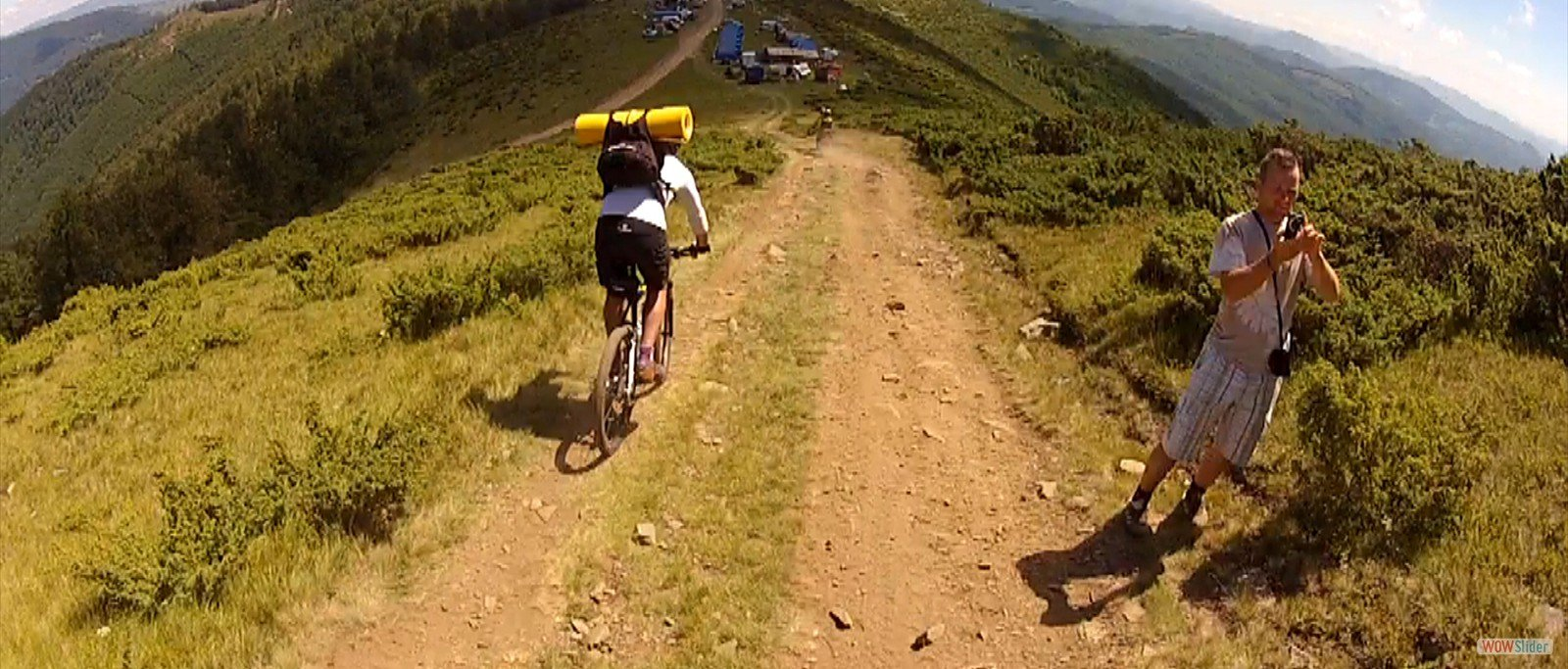 Coborare cu bicicleta de pe Muntele Găina